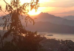Sunset over the Mekong in Luang Prabang, Laos