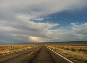 The open road somewhere out West. Photo taken by LJo