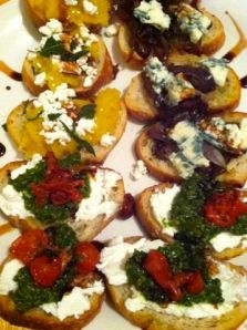 Trio of bruschettas. (All photos taken by the talented L.Jo).