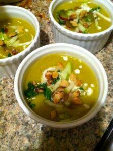 Waldorf Salad, in soup form.