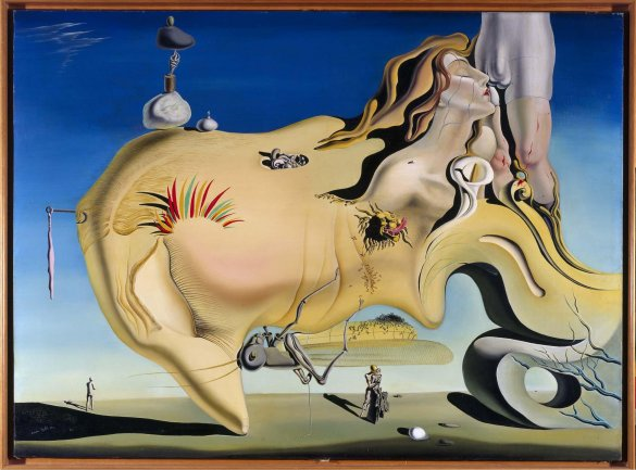 Salvador Dalí, The Great Masturbator, 1929. This painting has so many (Freud-inspired) ideas going on. But I wouldn't want it hanging above my couch.