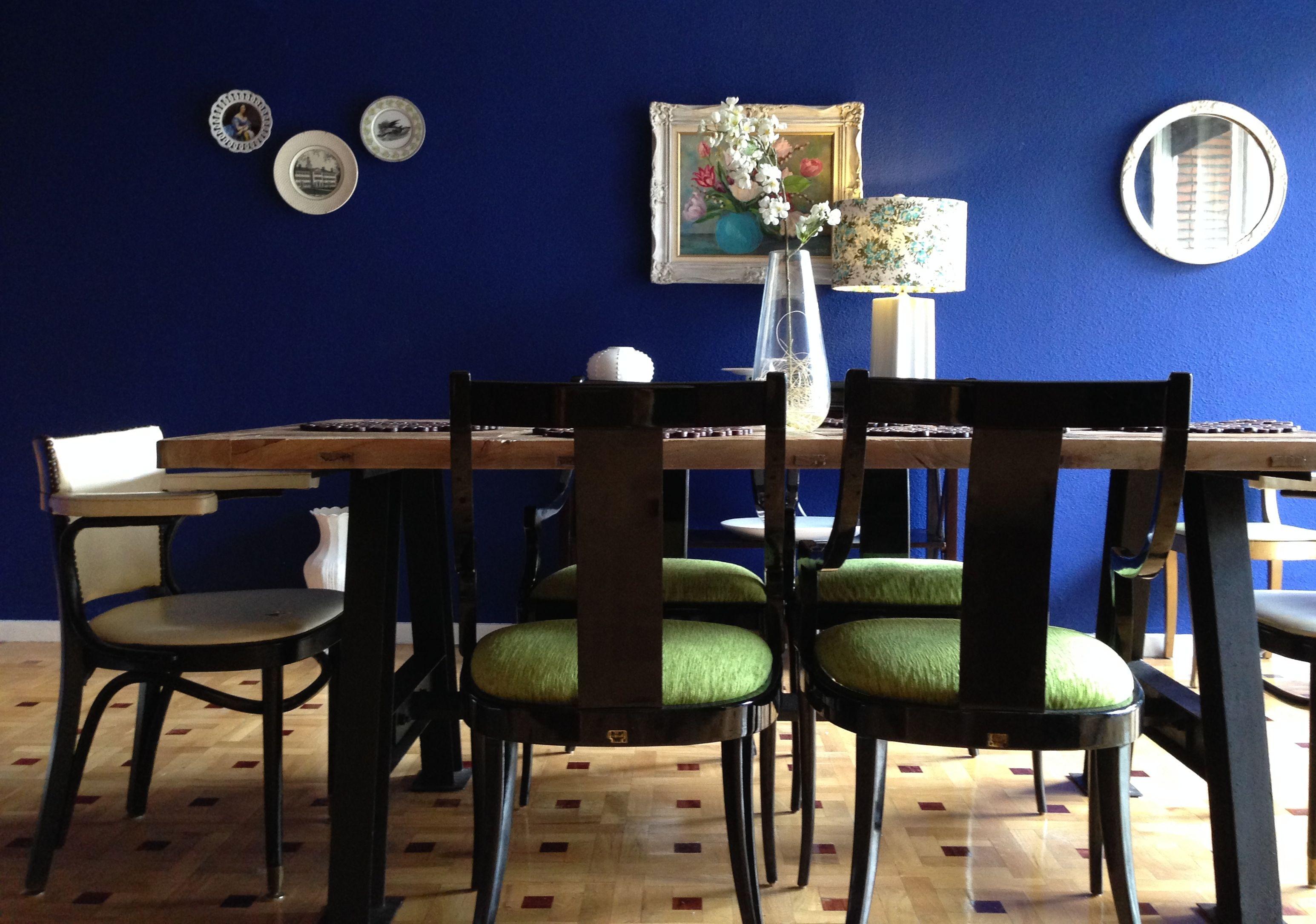 Bold Blue Dining Room Before And After   Em In Jerusalem
