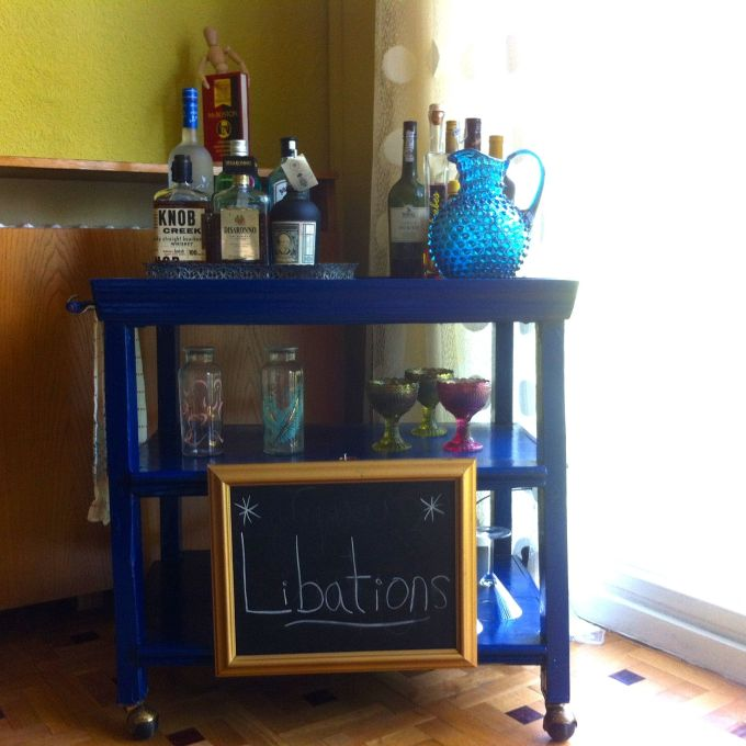 The bar cart. Originally a piece of garbage on the mean streets of New York.