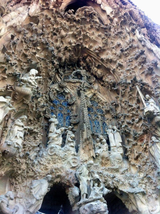 Exterior of La Sagrada Familia.