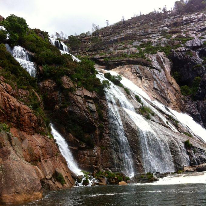 Waterfall in Ezaro, Spain.