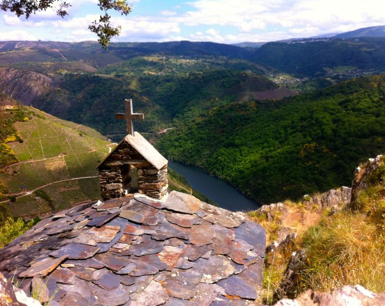 A spectacular viewpoint, or mirador, in Ourense, Spain.