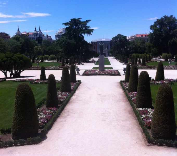 Retiro Park in Madrid.