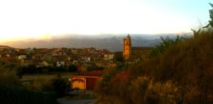 The town of Elciego, La Rioja, Spain.