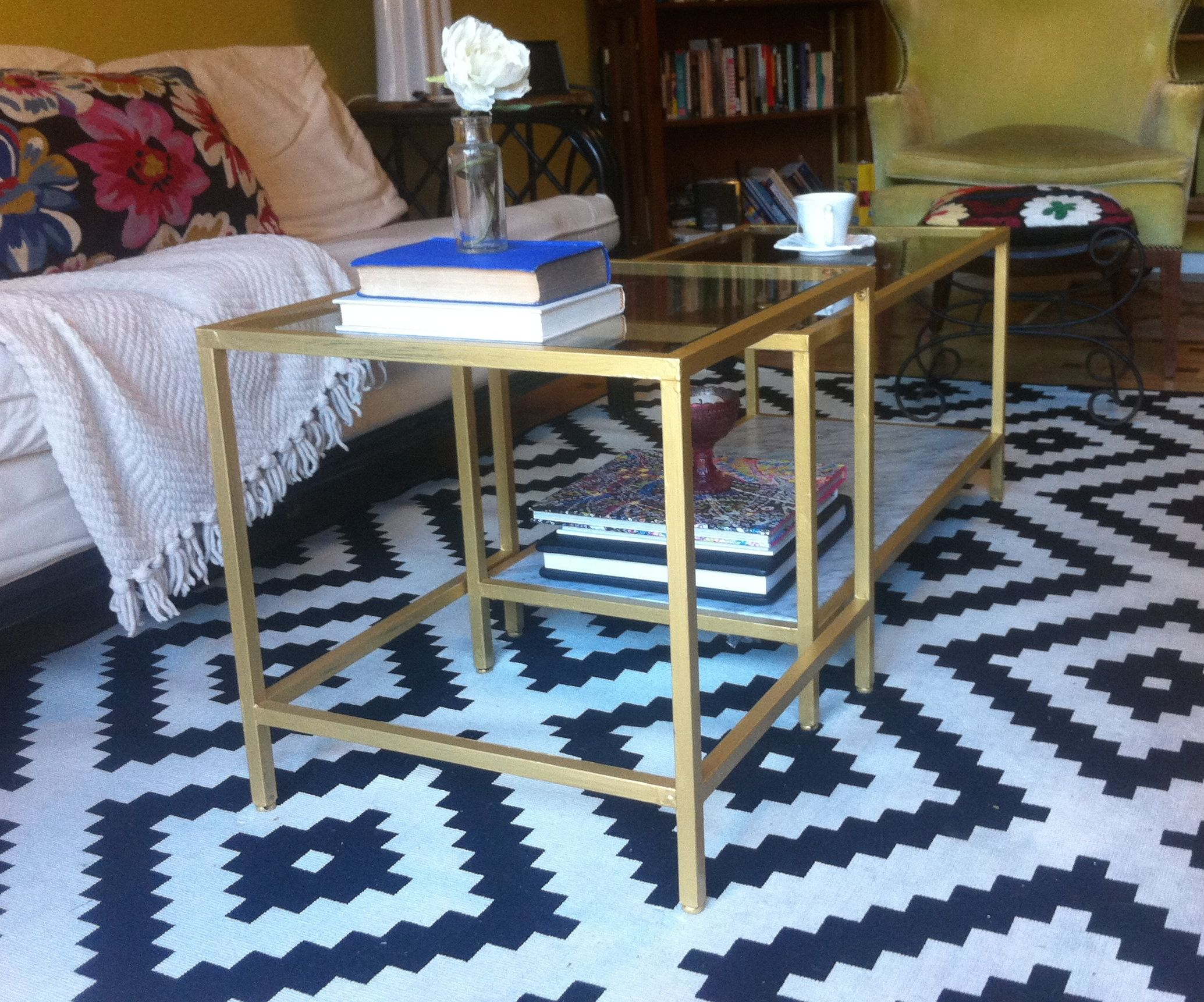 A Cheap Ikea Coffee Table Turned Glam – Em in Jerusalem
