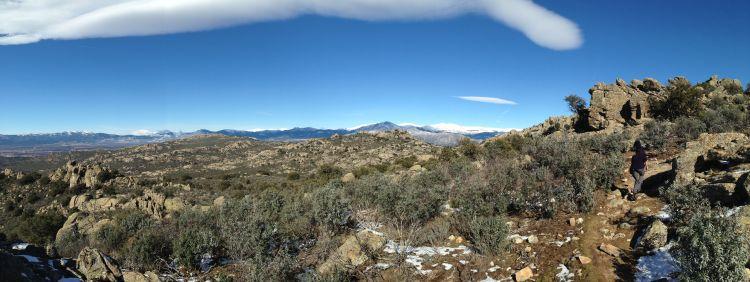 View from hike in the Sierra de Guadarramas.