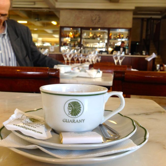 An espresso at Café Guarany, opened in 1933.