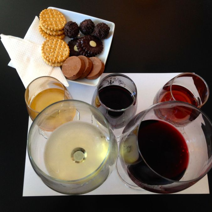 Wine, port wine, and chocolate pairing at Kopke.