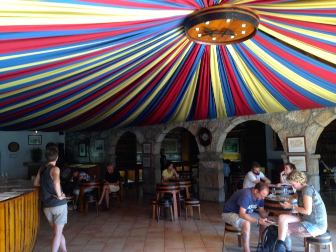 The circus-inspired tasting room at Taylor's.